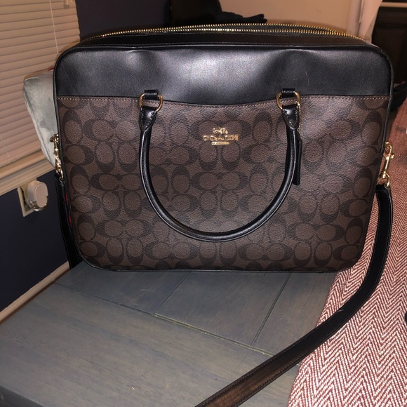New with tags!! Authentic Coach laptop case